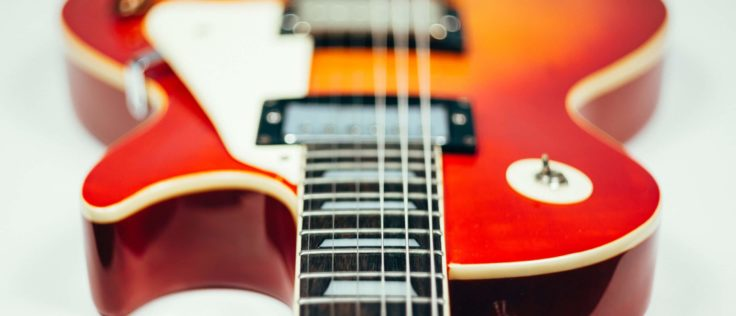 Toggle Schalter einer Les Paul E-Gitarre